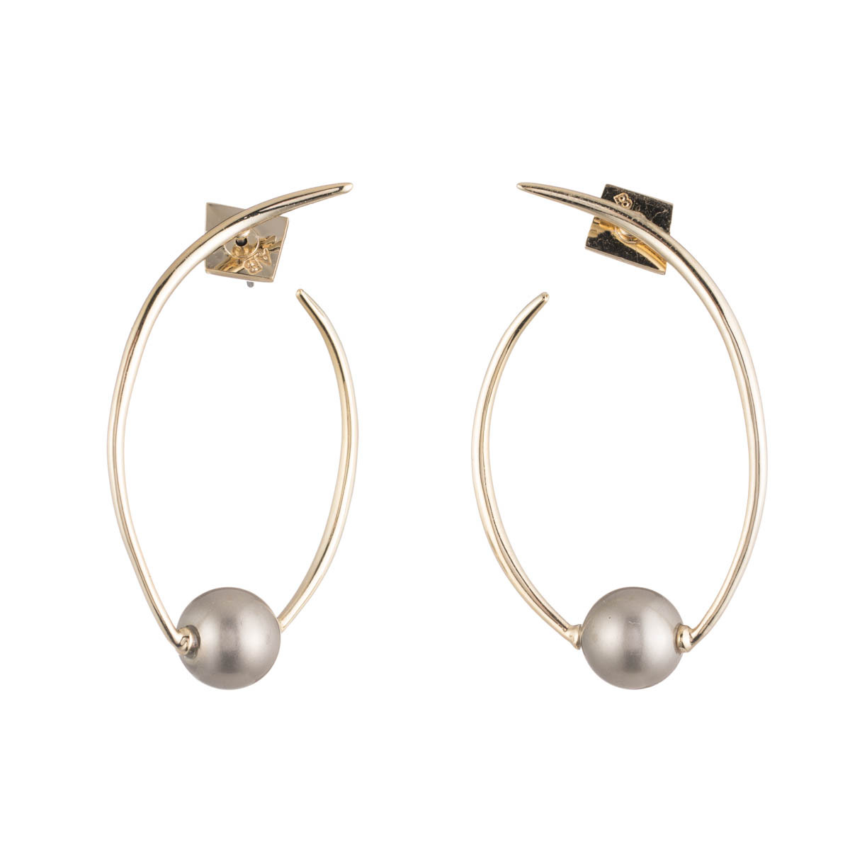 Coiled Pearl Post Earring Roberts Fine Jewelers