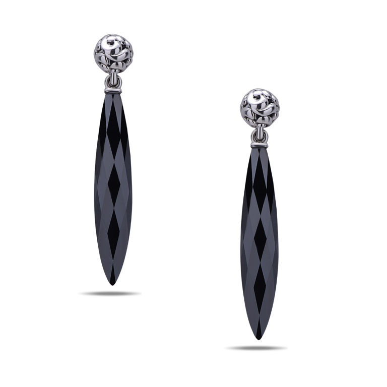 sorrento earrings hematite image shiny vintage stone details silver sterling stud is loading gray s itm screw about