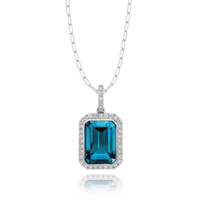 pendant en cut castle emerald necklace market bezel carats rakuten jewelry jewelrycastle n store item global