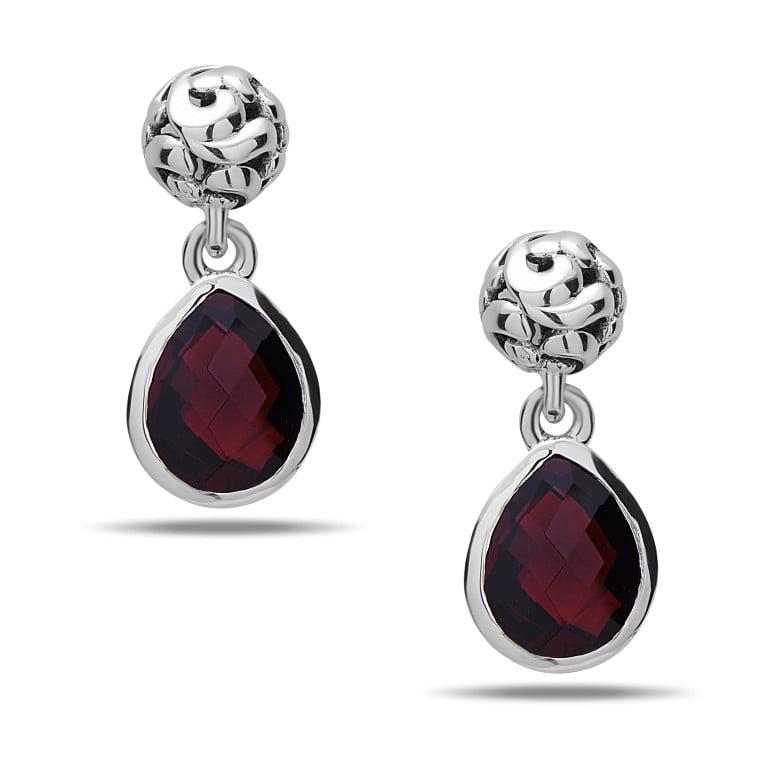 Dylani Garnet Earrings