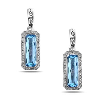 Eve Blue Topaz Earrings
