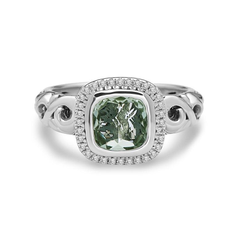 Ellah Green Amethyst Ring