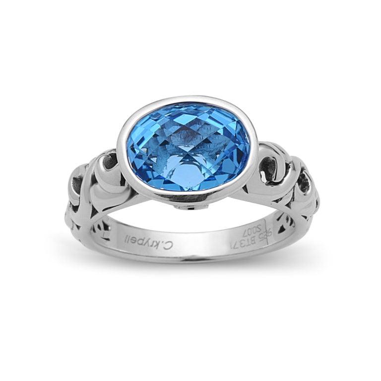 Dylani Blue Topaz Ring