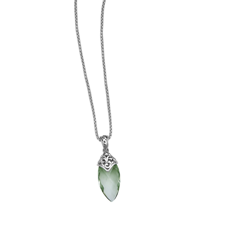 Aspen green amethyst pendant roberts fine jewelers roberts fine aspen green amethyst pendant aloadofball Images
