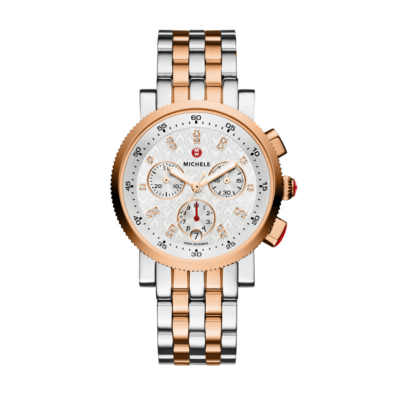 Sport Sail Small Two-Tone Rose Gold Diamond Dial Watch