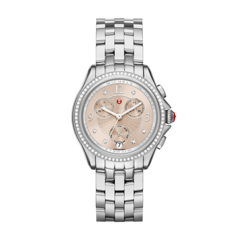 Belmore Chrono Diamond Beige Diamond Dial Watch