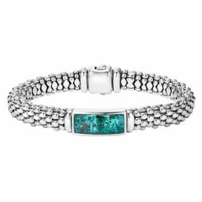Maya Chrysocolla Caviar Beaded Bracelet