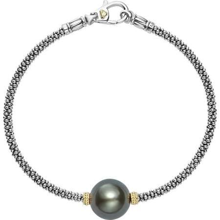 Lagos Luna Black Pearl Caviar Bracelet Roberts Fine