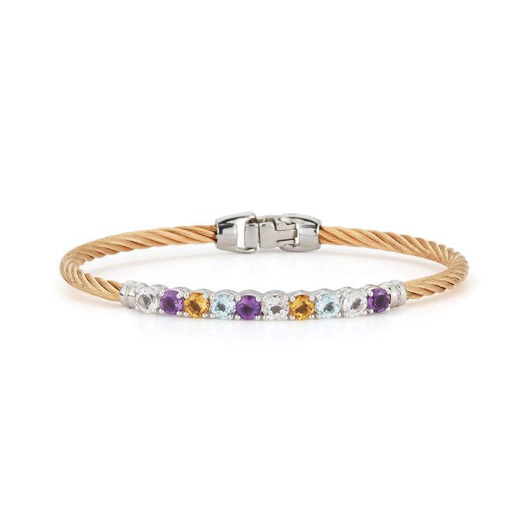 ALOR Burano Multi-Gemstone Bangle Bracelet 04-37-B010-99