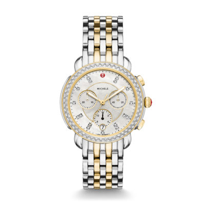 Sidney Diamond Two Toned Diamond DIal Watch